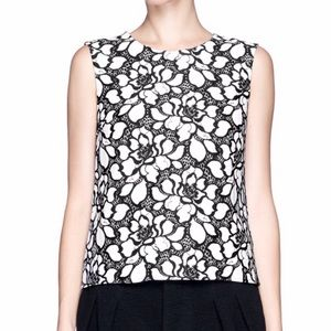 Diane von Furstenburg Lace Appliqué Top